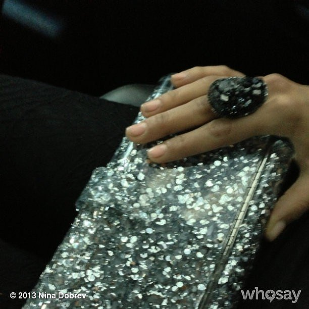 Nina Dobrev showed off her demure manicure en route to the Met Gala. Source: Instagram user ninadobrev