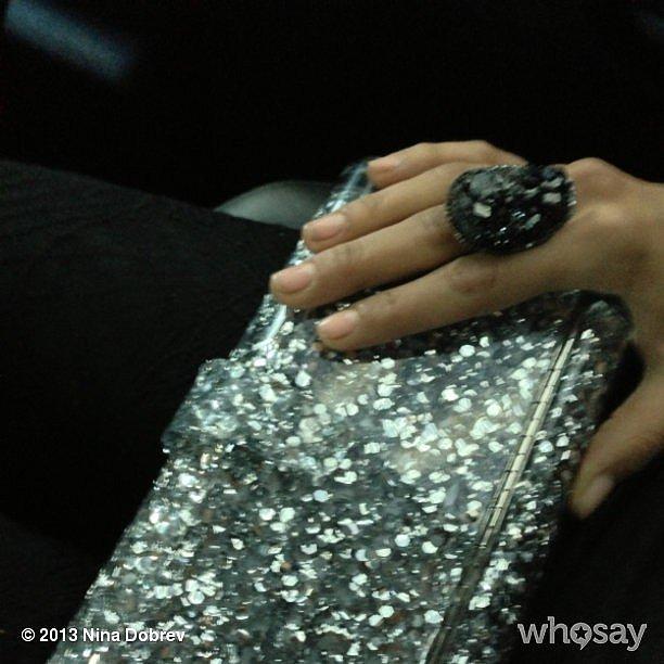 Nina Dobrev showed off her demure manicure en route to the Met Gala. Source: Instagram user ninadobrev