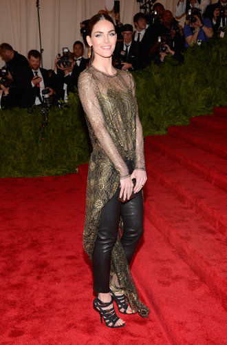 Hilary Rhoda at the Met Gala 2013.
