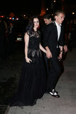 Lily Collins arrived at the afterparty with Jamie Campbell Bower.