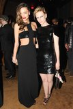 Miranda Kerr hung with January Jones inside The Standard hotel. Source: Neil Rasmus/BFAnyc.com