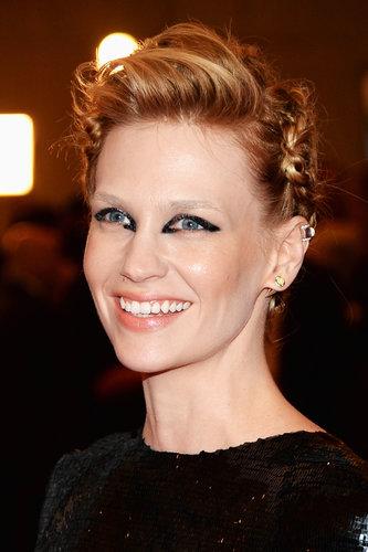 January Jones at the Met Gala 2013.