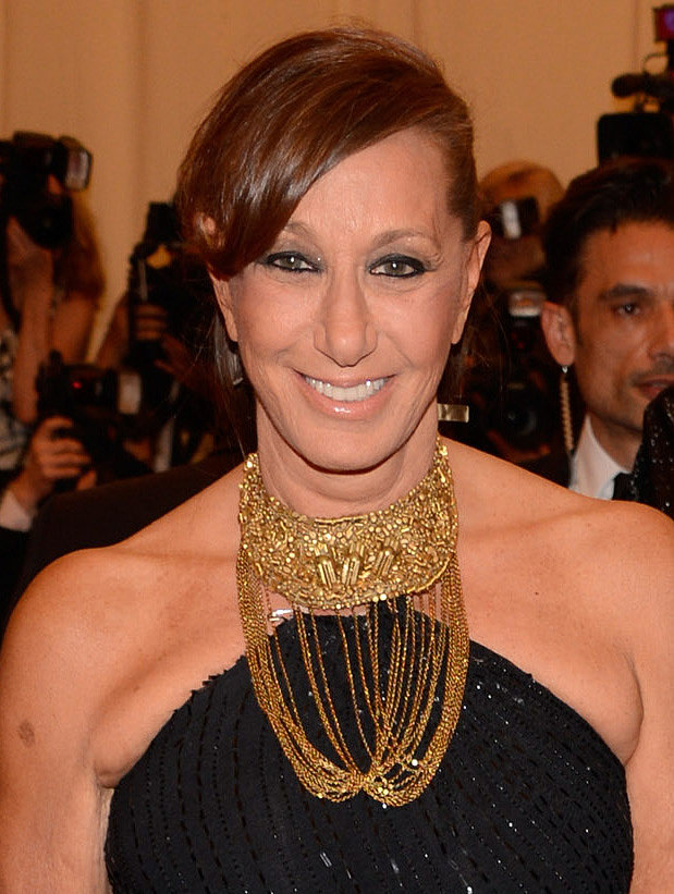 Donna Karan wore a gold collared necklace.