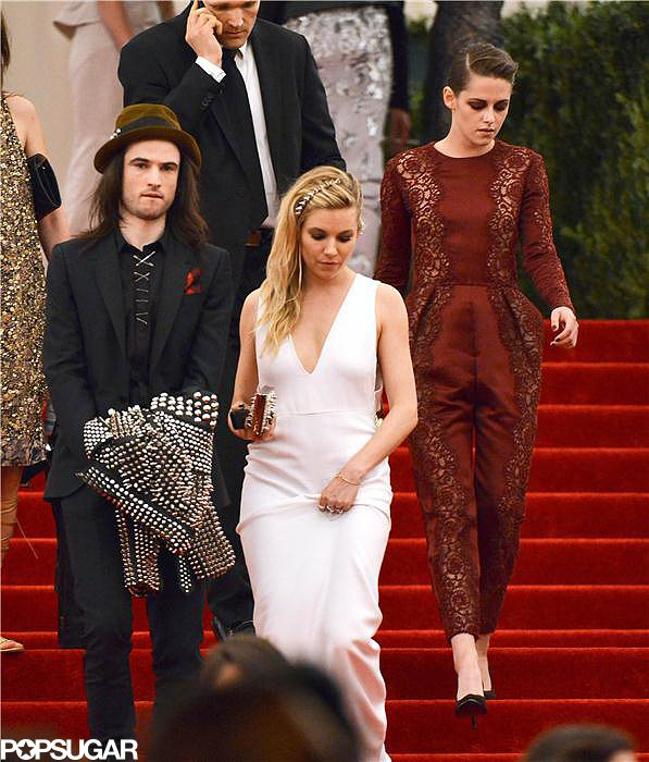 Kristen Stewart, Sienna Miller, and Tom Sturridge at the Met Gala 2013.
