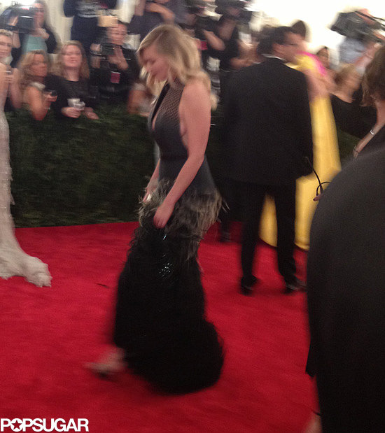 Kirsten Dunst showed skin in her Louis Vuitton.