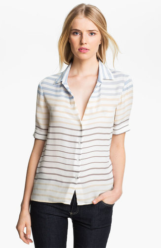 L&#039;AGENCE Stripe Silk Blouse
