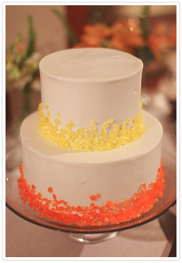 A cake that uses Pop Rocks for a pop of color — how cute! Photo by  Max Wanger via
