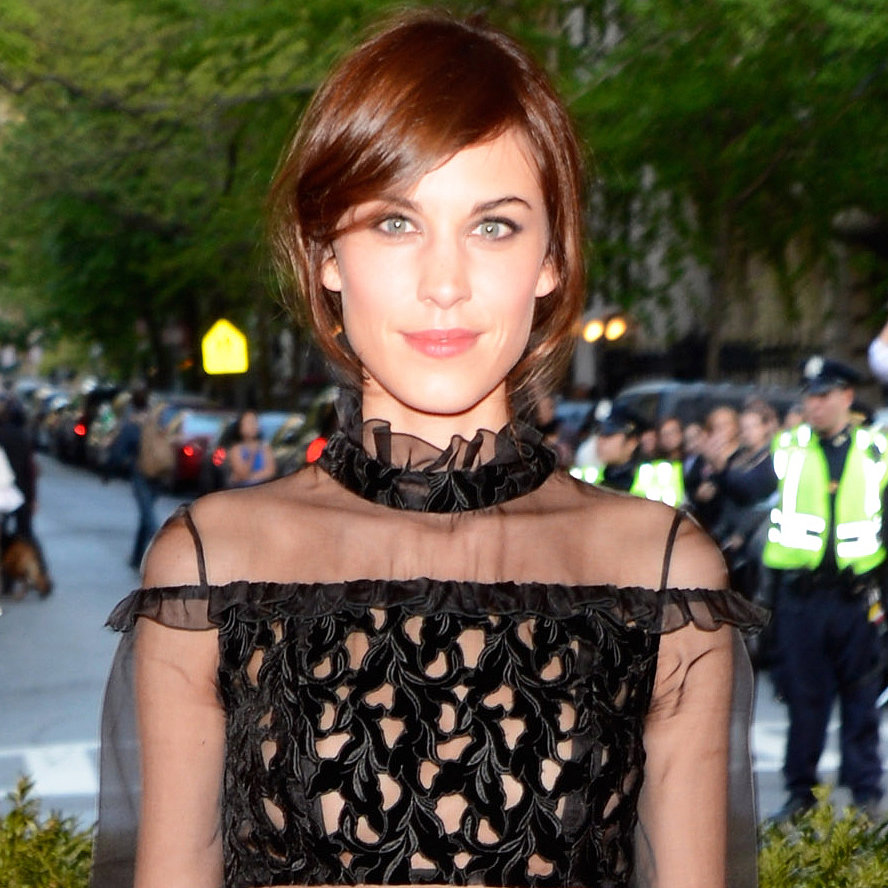 Alexa Chung always chic, didn't do much in the throwback punk department, but her timeless beauty doesn't need much enhancing.