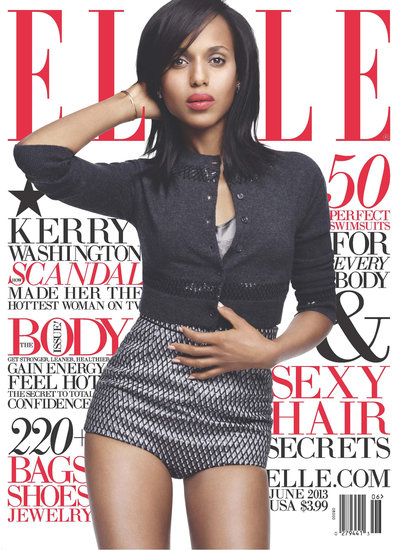 Scandal star Kerry Washington landed the cover of Elle's June issue.  Source: Horst Diekgerdes/Elle