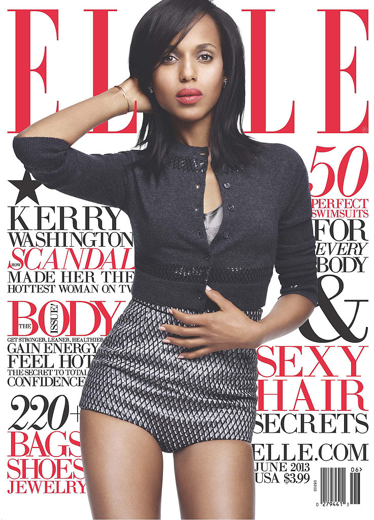 Scandal star Kerry Washington landed the cover of Elle's June issue. 