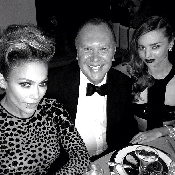 Michael Kors and his girls for the night, Jennifer Lopez and Miranda Kerr. Source: Instagram user michaelkors