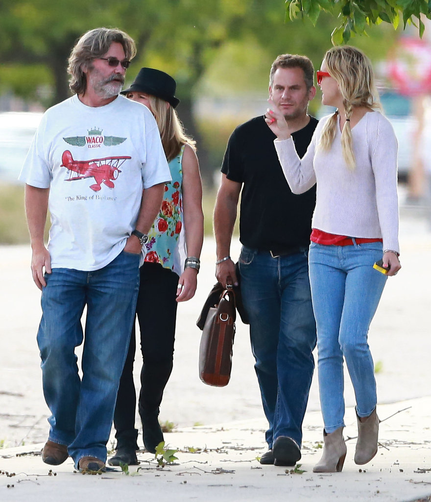 Kate Hudson and Kurt Russell walked the grounds of a Santa Barbara, CA, winery on Monday.