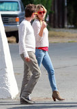 Kate Hudson and Matthew Bellamy wore sunglasses in Santa Barbara, CA.