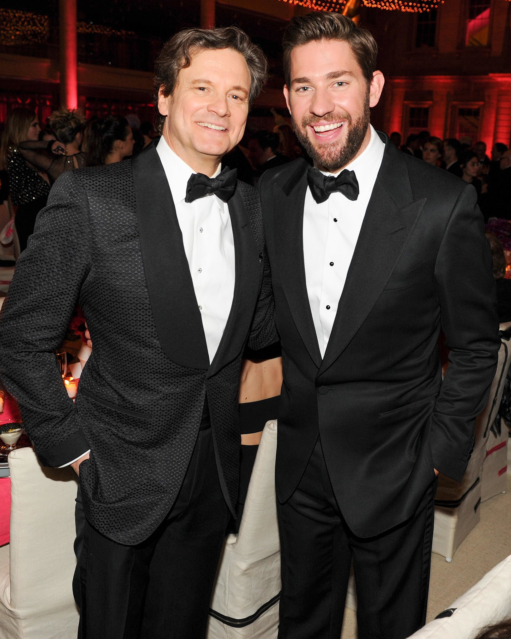 John Krasinski and Colin Firth suited up inside the Met Gala.  Source: Billy Farrell/BFANYC.co