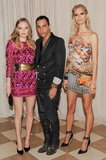 Kate Bosworth and Karolina Kurkova joined designer Olivier Rousteing inside the Met Gala.  Source: Billy Farrell/BFANYC.com