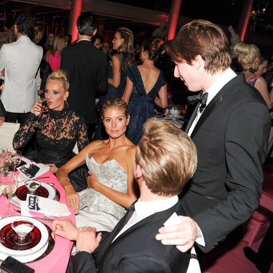 Heidi Klum made friends over dinner at the Met Gala in NYC. Source: Billy Farrell/BFANYC.com