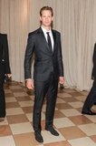 Alexander Skarsgard stopped for a solo shot inside the Met Gala.  Source: Billy Farrell/BFANYC.com