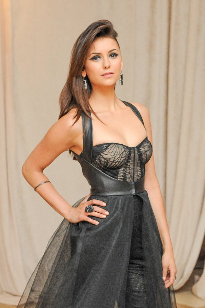 Nina Dobrev made a stunning entrance inside the Met Gala.  Source: Billy Farrell/BFANYC.com