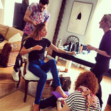 Doutzen Kroes got prepped all over. Source: Instagram user doutzenkroes1