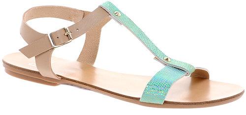 Faith Jelena Jade Leather Flat Sandals