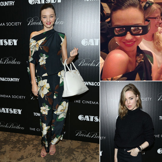 Miranda Kerr Goes Floral to Watch The Great Gatsby in NYC