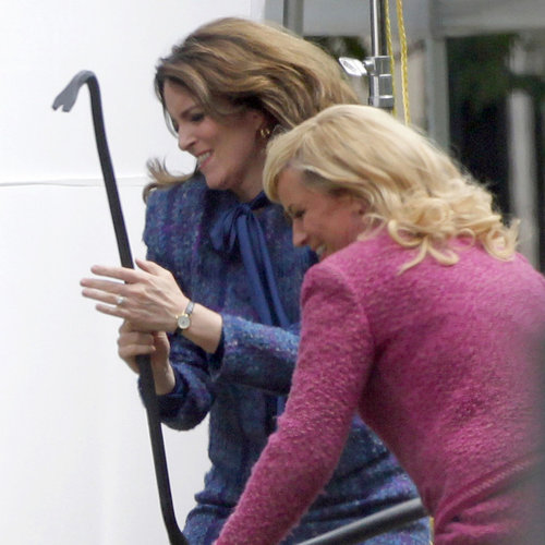Tina Fey and Amy Poehler Filming Anchorman 2 | Photos