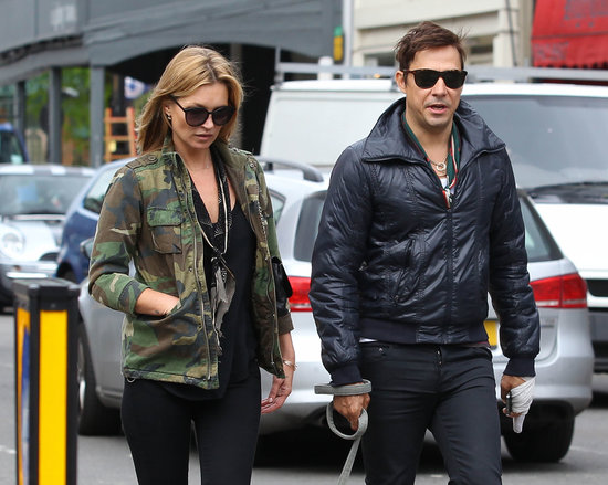 Kate Moss and Jamie Hince spent the day together in London.
