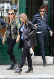 Kate Moss and Jamie Hince brought their pup along for a stop at a London jewelry store.