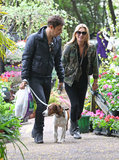 Kate Moss was all smiles as she and Jamie Hince took their dog, Archie, for a walk around their London neighborhood in May 2013.