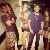 Chrissy Teigen hung out with the (cardboard) cast of Jersey Shore. Source: Instagram user chrissy_teigen