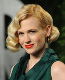 January Jones knows her way around a vintage beauty look from her role on Mad Men, but her crimped waves and red lips, which she wore at the 2012 Vanity Fair Oscars party, could have been right out of the '20s.