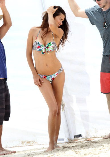 Adriana Lima stripped down for a Victoria's Secret photo shoot in St. Barts.