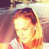 Bar Refaeli soaked up the sun. Source: Instagram user barrefaeli