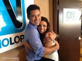 Eva Longoria and Mario Lopez shared a sweet embrace. Source: Eva Longoria on WhoSay