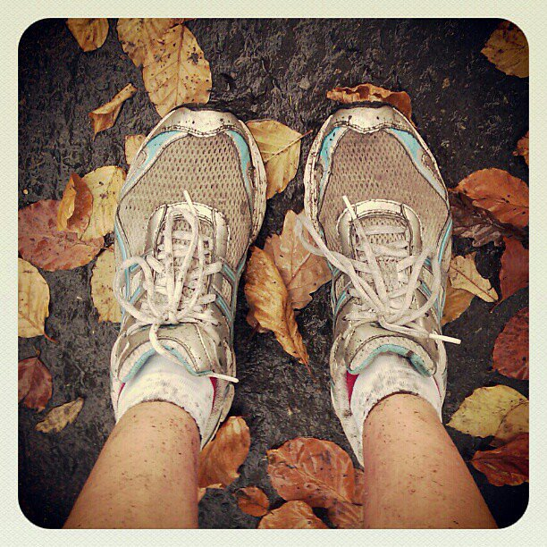 A run in Pollok Country Park in Glasgow, Scotland, gave this reader's shoes a workout, too. Source: Instagram user zenya_z