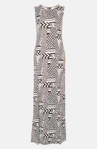 Topshop 'Jigsaw' Split Maxi Dress