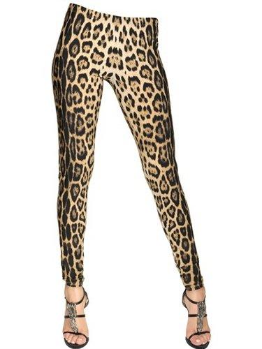Leopard Printed Lycra Leggings