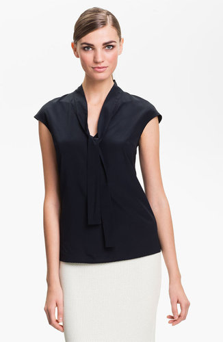 St. John Collection Cap Sleeve Crepe Top