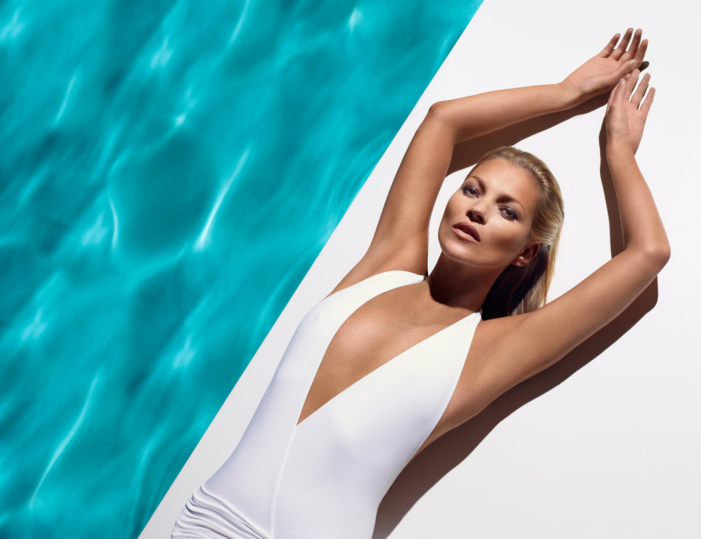 Kate Moss posed for a new ad for St. Tropez.