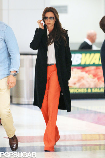 Victoria Beckham arrived in NYC.