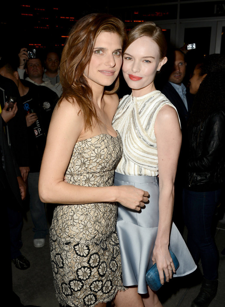 Kate Bosworth got together with her costar Lake Bell for the Black Rock premiere in LA.