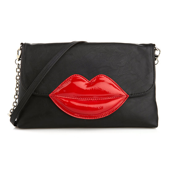 "Rara Avis by Iris Apfel ""Lips"" Crossbody Clutch  There's lots to love about this bold clutch/crossbody — a playfully charming addition to even your most casual wears."