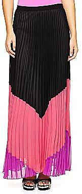 Allen B.® Colorblock Pleated Long Skirt
