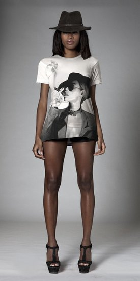 Who runs the world? Clearly, any girl wearing this life-size digitally printed white tee ($54) of Beyoncé puffing on a cigar.  Source: Beyoncé Online Shop