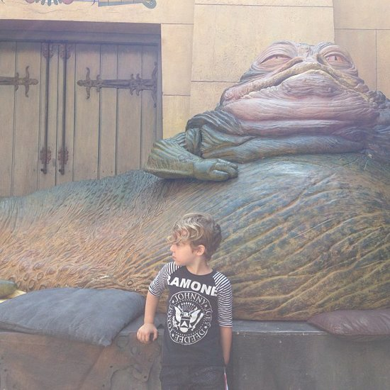 Bronx Wentz celebrated Star Wars Day (May 4) with one of the original trilogy's most famous characters. Source: Instagram user petewentz