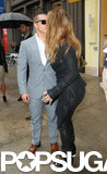 Jennifer Lopez kissed boyfriend Casper Smart in NYC.