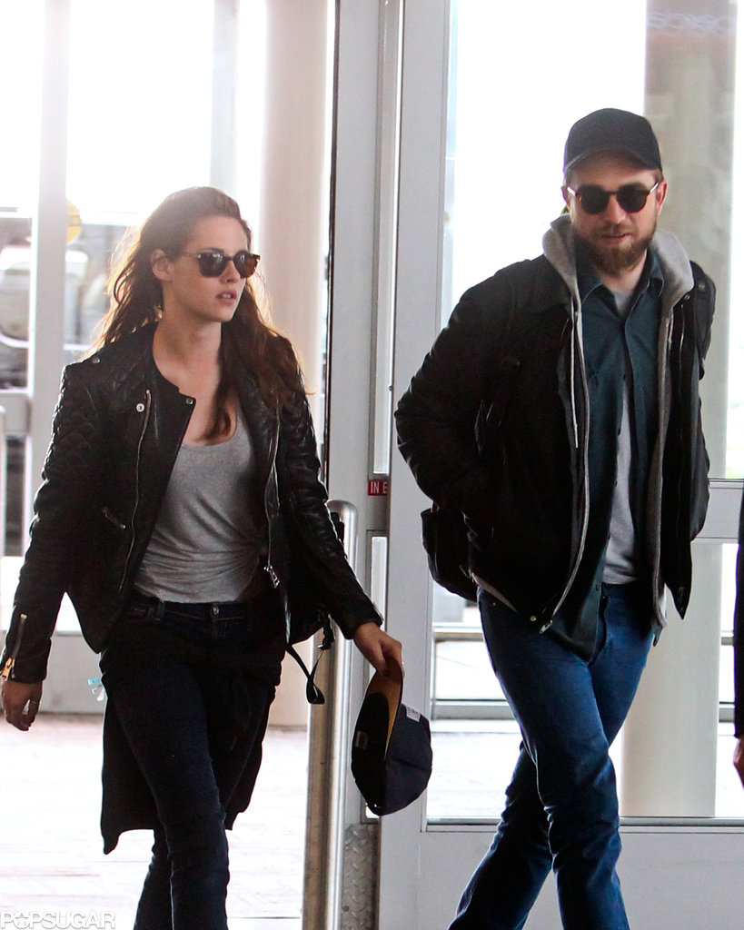 Robert Pattinson and Kristen Stewart arrived at JFK.
