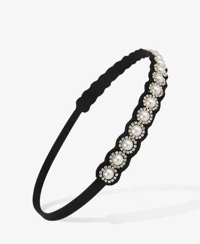 FOREVER 21 Pearlescent Rhinestone Headband