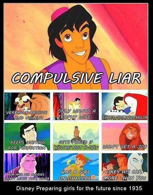 Disney princes may be flawed (who isn't?), but there's just something about the bad boy. Source: Funny Pictures Plus