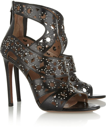 Alaïa Studded cutout leather sandals